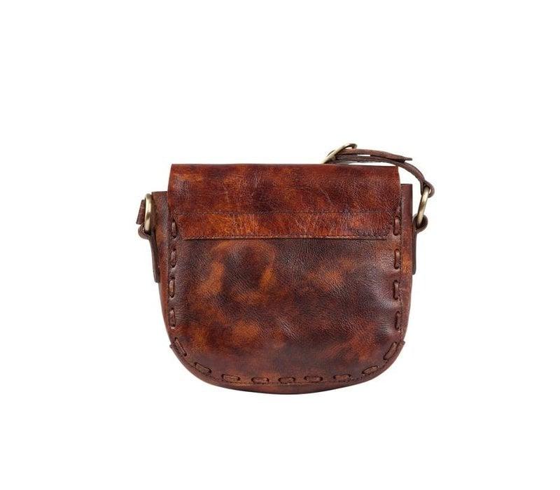 Leather Crossbody Bag Indie ǀ Vintage Brown