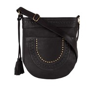 Leather Crossbody Bag Zella |  Black