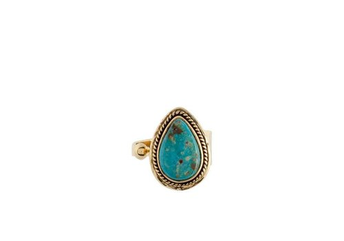 Route508 Turquoise Ring Ruby | Gold