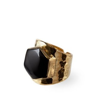 Route508 Gold Ring Lynx | Black Onyx
