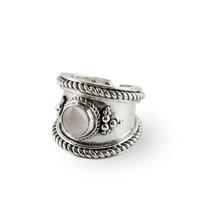 Zilveren Ring Bohème | Regenboog Maansteen