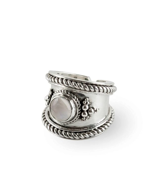 Route508 Silver Ring Bohème | Rainbow Moonstone