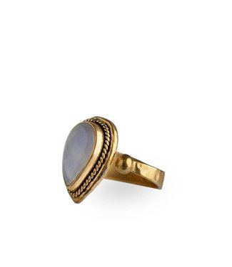 Route508 Gold Moonstone Ring Ruby