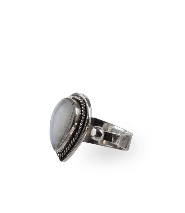 Route508 Zilveren Maansteen Ring Ruby