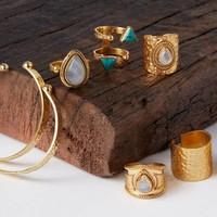 Gouden Maansteen Ring  Ruby