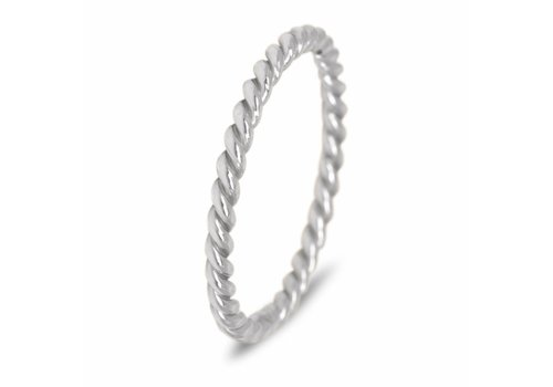 Route508 Silver stackring Twisted