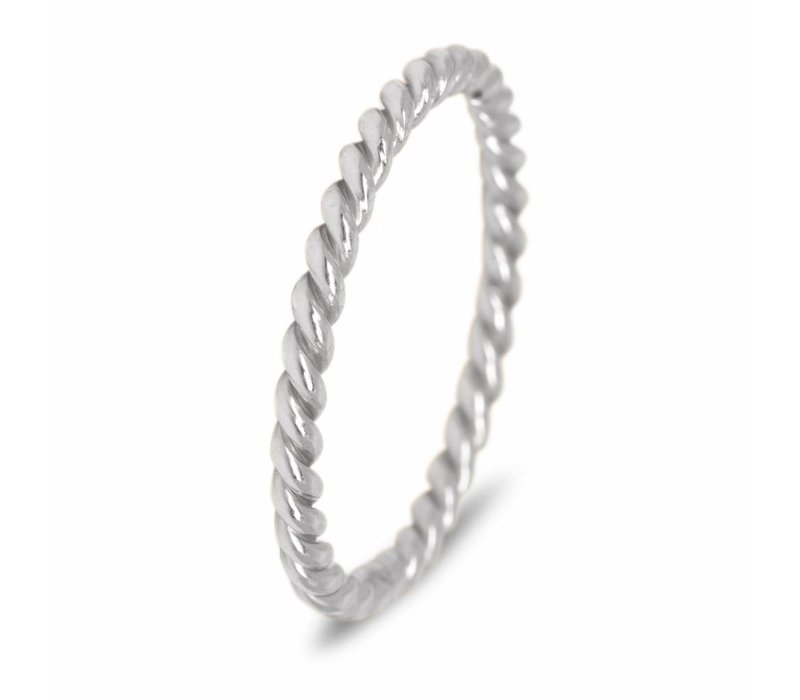 025 Sterling Zilveren Stapelring Twisted
