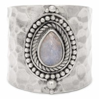 Sterling Silver Ring Sheila | Rainbow Moonstone