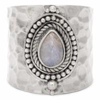 Sterling Zilveren Maansteen Ring Sheila