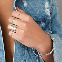 Silver stackring Twisted