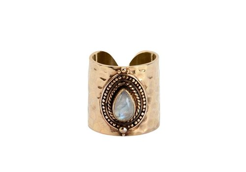 Route508 Gold Ring Ruby | Rainbow Moonstone - Copy