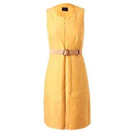 Giorgio Armani Gele mouwloze jurk