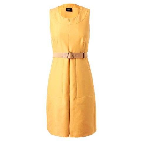 Gele mouwloze jurk