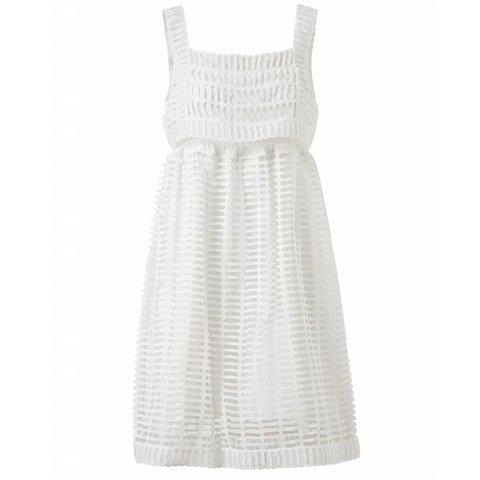 Opengewerkte kanten jurk