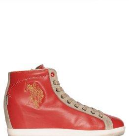 U.S. Polo Assn. Sneaker, rood