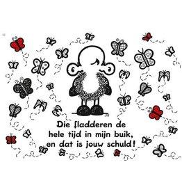 Sheepworld Ansichtkaart - Die fladderen ...