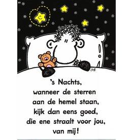 Sheepworld Ansichtkaart - 's Nachts