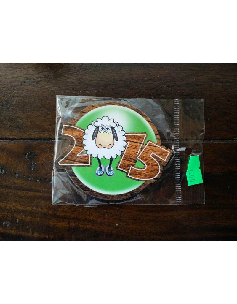 Fridge magnet 2015 Staring Sheep