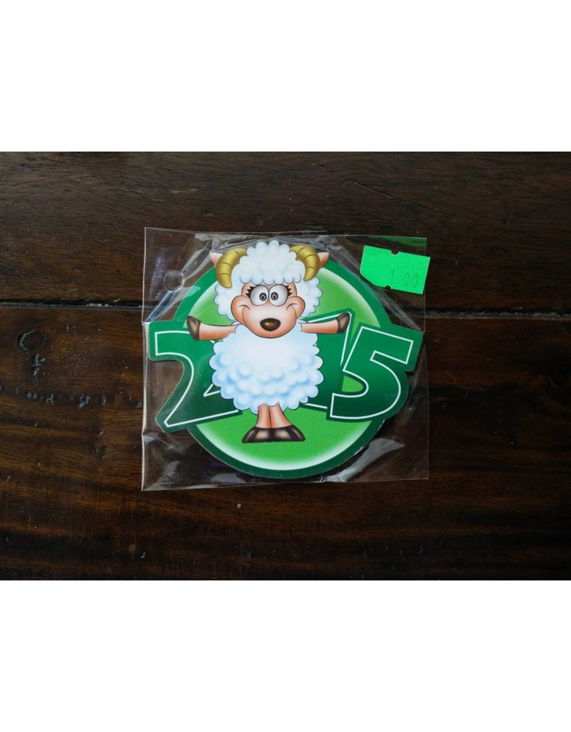 Fridge magnet 2015 Sheep with horns green