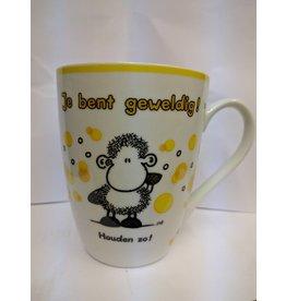 Sheepworld Beker 'je bent geweldig'
