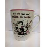 Sheepworld Beker 'voor jou heel veel knuffels en kusjes'