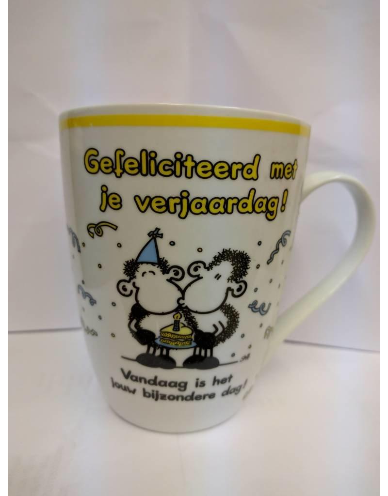 Sheepworld Beker 'gefeliciteerd met je verjaardag'