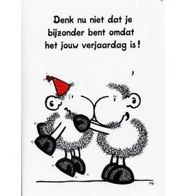 Sheepworld Verjaardagskaart - Denk nu niet dat je bijzonder bent...
