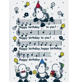 Sheepworld Verjaardagskaart - Happy Birthday to you bladmuziek