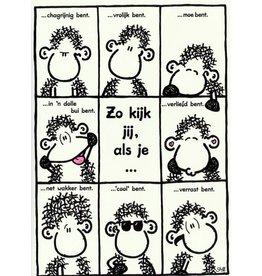 Sheepworld Schaap verjaardagskaart - Zo kijk jij als je ...