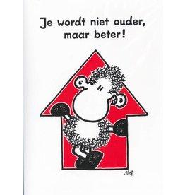 Sheepworld Schaap verjaardagskaart - Je wordt niet ouder, maar beter!