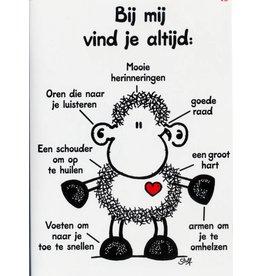 Sheepworld Schaap verjaardagskaart - Bij mij vind je altijd...