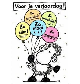 Sheepworld Schaap verjaardagskaart - Voor je verjaardag!