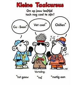 Sheepworld Birthday card sheep - A short language course
