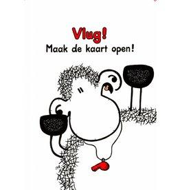 Sheepworld Schaap verjaardagskaart - Vlug! Maak de kaart open!