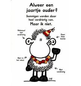Sheepworld Schaap verjaardagskaart - Alweer een jaartje ouder?