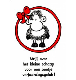 Sheepworld Birthday card sheep - Rub the sheep for luck