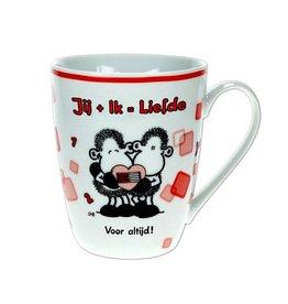 Sheepworld Beker 'jij en ik=liefde'