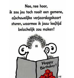 Sheepworld Schaap verjaardagskaart - Nee, nee hoor, ik zou...