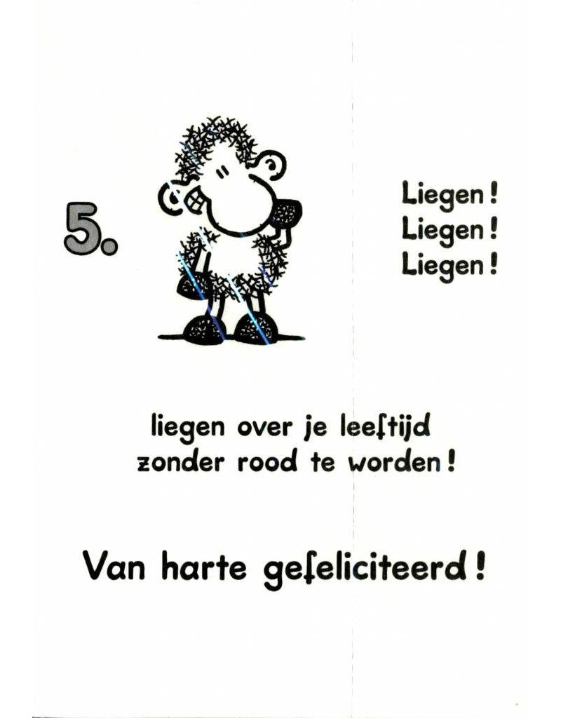 Sheepworld Birthday card sheep - Recipy for eternal youth