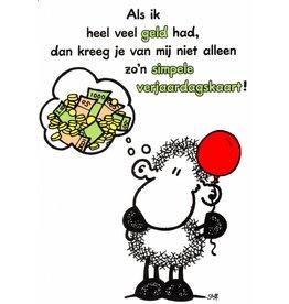 Sheepworld Birthday card sheep - If I had a lot of money…