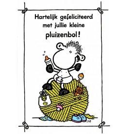 Sheepworld Schaap geboortekaart - Hartelijk gefeliciteerd met jullie kleine pluizenbol!