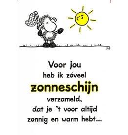 Sheepworld Schaap liefde en vriendschapskaart - Voor jou heb ik zóveel zonneschijn...
