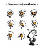 Sheepworld Love and friends card sheep - Flower love wonder