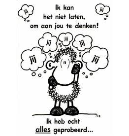 Sheepworld Schaap liefde en vriendschapskaart - Ik kan het niet laten...