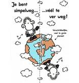Sheepworld Schaap liefde en vriendschapskaart - Je bent simpelweg … véél te ver weg!