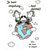 Sheepworld Love and friends card sheep - You are too far away!