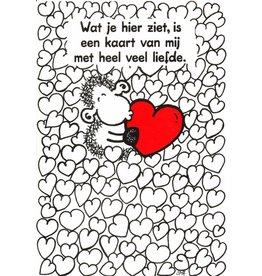 Sheepworld Schaap liefde en vriendschapskaart - Wat je hier ziet, is een kaart van mij met heel veel liefde.