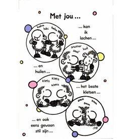 Sheepworld Schaap liefde en vriendschapskaart - Met jou ...