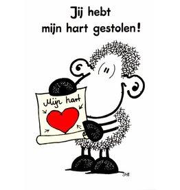 Sheepworld Schaap liefde en vriendschapskaart - Jij hebt mijn hart gestolen!
