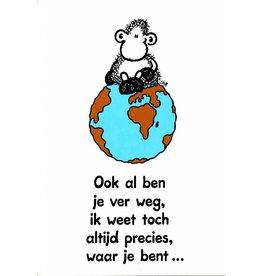 Sheepworld Schaap liefde en vriendschapskaart - Ook al ben je ver weg…